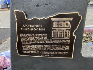 Photo of the next Abner Hunt Francis historical marker